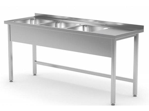 XXLselect Edelstahl-Wannen-Spülen XXL XXL + 3 + offenen Boden | 1500 (b) x700 (d) mm | Auswahl von 5 WIDTHS
