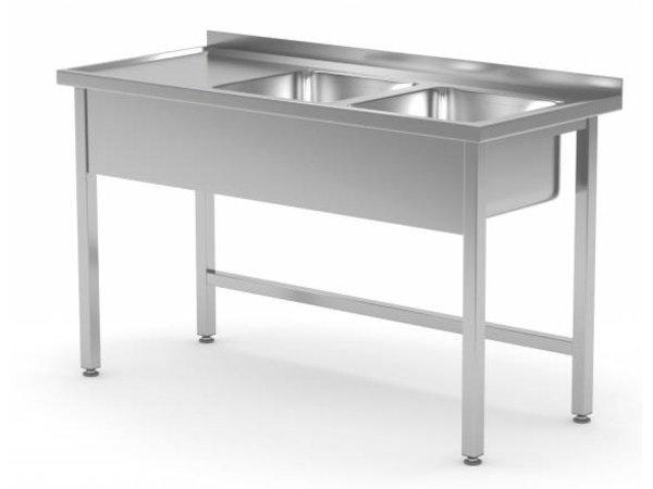 XXLselect Stainless Steel Sink + 2 Sinks XXL (right) 500x400x (h) 250   1100 (b) x700 (d) mm   CHOICE OF 6 WIDTHS