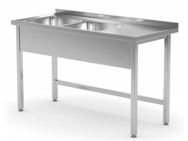 XXLselect Stainless Steel Sink + 2 Sinks XXL (left) of 500x400x (h) 250   1100 (b) x700 (d) mm   CHOICE OF 6 WIDTHS