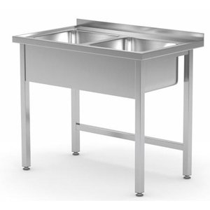 XXLselect Stainless Steel Sink + 2 Sinks of 400x400x (h) 250 | 800 (b) x600 (d) mm | CHOICE OF 2 WIDTHS