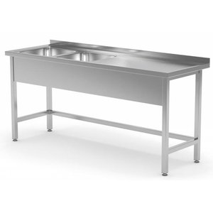 XXLselect Stainless Steel Sink XXL + 2 Sinks (left) of 400x400x (h) 250 | 1400 (b) x600 (d) mm | CHOICE OF 6 WIDTHS
