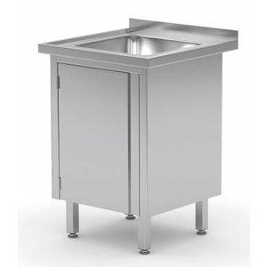 XXLselect Sink Sink + + 1 Pendeltür 500x400x (h) 250 | Heavy Duty | 500 (w) x700 (d) mm | Wahl von 2 WIDTHS