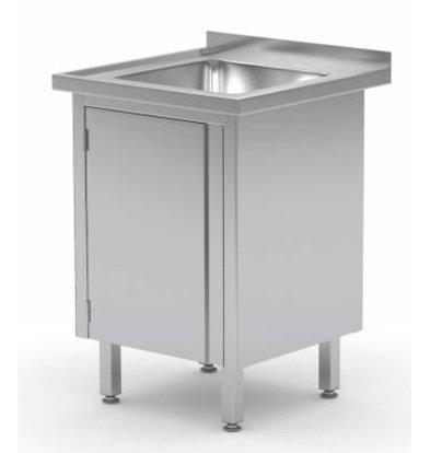 XXLselect Sink Sink + + 1 Swing door 500x400x (h) 250 | Heavy Duty | 500 (w) x700 (d) mm | CHOICE OF 2 WIDTHS