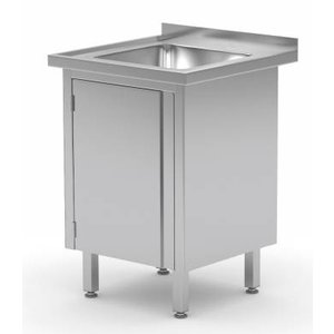 XXLselect Sink Stainless Steel Sink + + 1 Swing door 400x400x (h) 250 | 500 (w) x600 (d) mm | CHOICE OF 2 WIDTHS