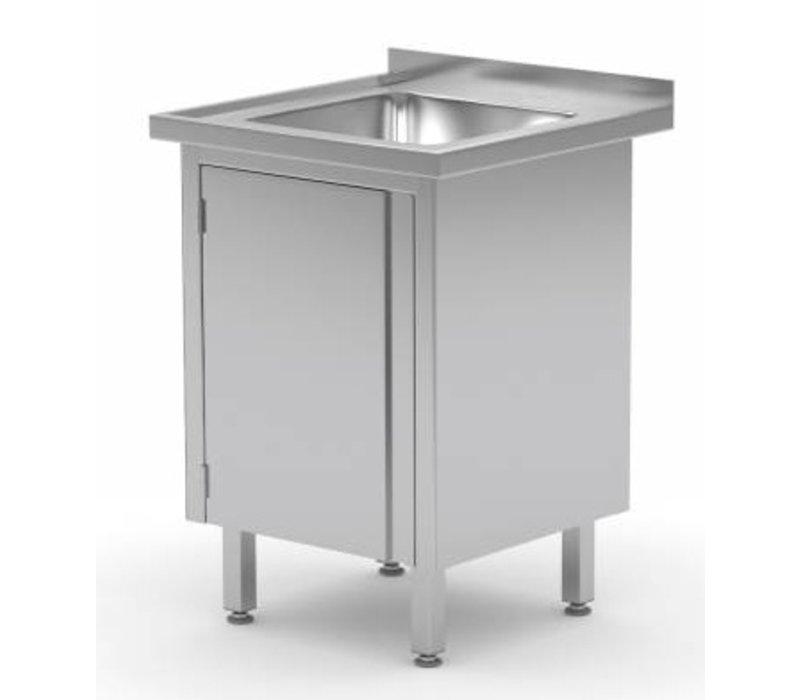XXLselect Sink Stainless Steel Sink + + 1 Swing door 400x400x (h) 250   500 (w) x600 (d) mm   CHOICE OF 2 WIDTHS