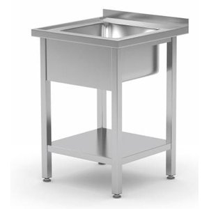 XXLselect Sink Stainless Steel + Bottom Shelf | Sink XXL 500x400x250 (h) | 600 (b) x700 (d) mm | CHOICE OF 2 WIDTHS