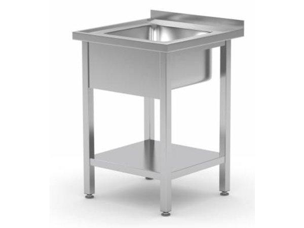 XXLselect Spüle Edelstahl + Bottom Shelf | Sink XXL 500x400x250 (h) | 600 (b) x700 (d) mm | Wahl von 2 WIDTHS