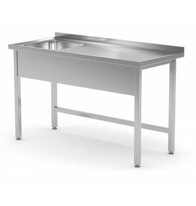 XXLselect Sink Stainless Steel | Sink XXL 500x400x250 (h) mm | 700 (b) x700 (d) mm | CHOICE OF 10 WIDTHS