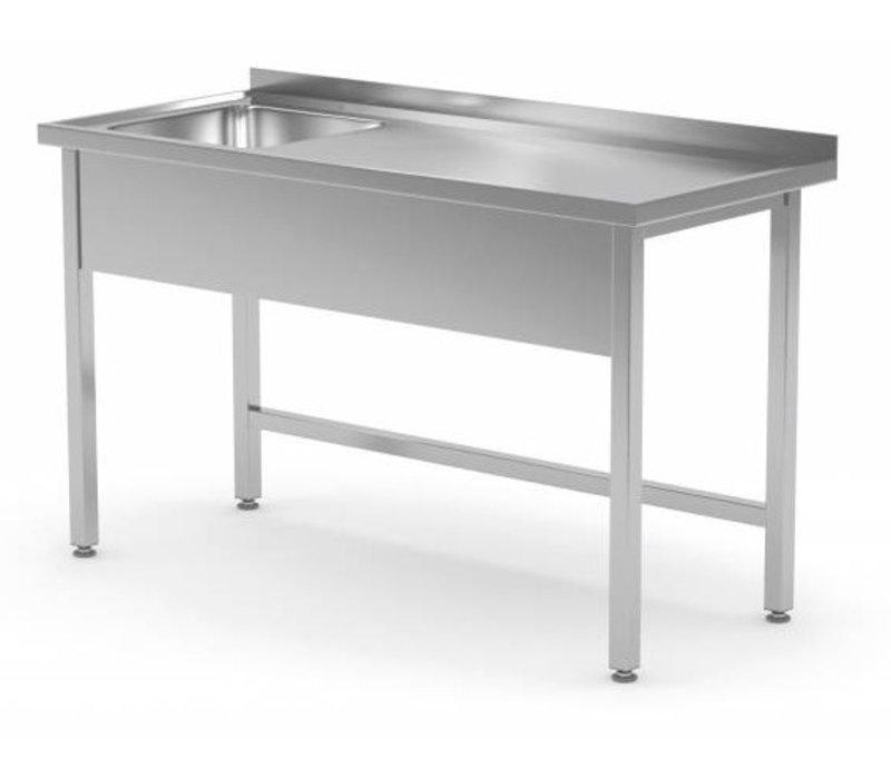 XXLselect Sink Stainless Steel | Sink XXL 500x400x250 (h) mm | 700 (b) x700 (d) mm | CHOICE OF 10 WIDTHS