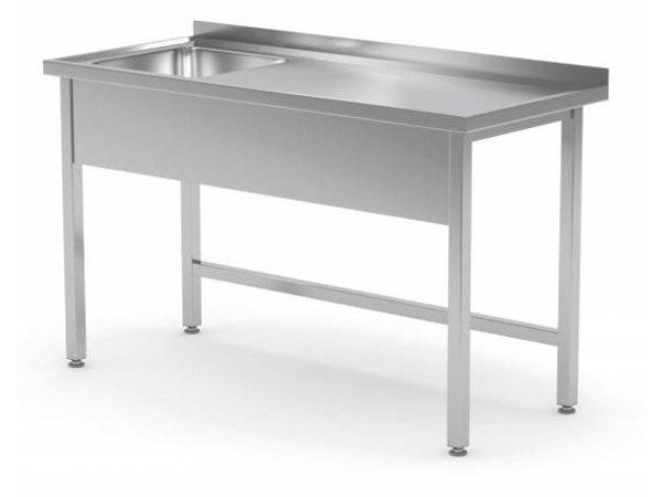 XXLselect Spüle Edelstahl | Sink 400x400x250 (h) mm | 700 (b) x600 (d) mm | Auswahl von 10 WIDTHS
