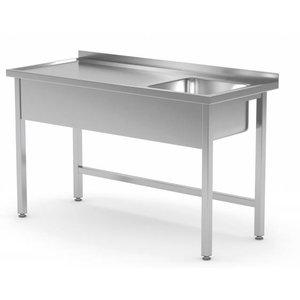XXLselect Spüle Edelstahl | Sink XXL 500x400x250 (h) mm | 700 (b) x700 (d) mm | Auswahl von 10 WIDTHS