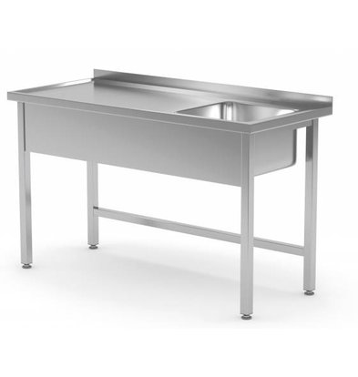 XXLselect Sink Stainless Steel | Sink 400x400x250 (h) mm | 700 (b) x600 (d) mm | CHOICE OF 10 WIDTHS