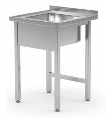XXLselect Sink + Splash Edge-SS | Sink XXL 500x400x250 (h) | 600 (b) x700 (d) mm | Wahl von 2 WIDTHS