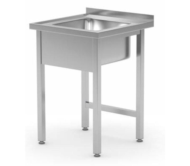 XXLselect Sink + Splash Edge SS | Sink XXL 500x400x250 (h) | 600 (b) x700 (d) mm | CHOICE OF 2 WIDTHS