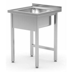 XXLselect Sink + Splash Edge-SS | Sink 400x400x250 (h) | 600 (b) x600 (d) mm | Wahl von 2 WIDTHS