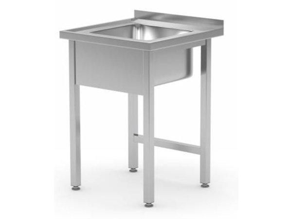 XXLselect Sink + Splash Edge-SS | Sink 400x400x250 (h) | 600 (b) x600 (d) mm | Wahl von 2 WIDTHS