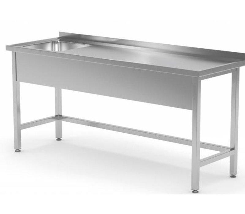 XXLselect Stainless Steel Sink + Splash Edge + Sink XXL 500x400x (h) 250 Links | 1200 (b) x700 (d) mm | CHOICE OF 8 WIDTHS