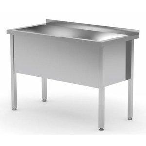 XXLselect Stainless Steel Sink Sink XXL + 400 (h) mm + Splash-Rand | 700 (b) x600 (d) mm | CHOICE OF 6 WIDTHS