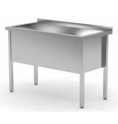XXLselect Edelstahl-Wannen-Sink-XXL + 400 (h) mm + Splash-Rand | 700 (b) x600 (d) mm | Auswahl von 6 WIDTHS