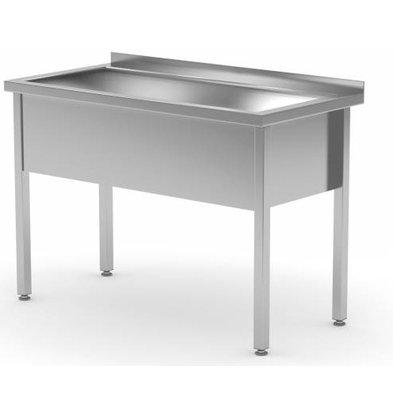 XXLselect Stainless Steel Sink Sink XL + 300 (h) mm + Splash-Rand   700 (b) x700 (d) mm   CHOICE OF 6 WIDTHS