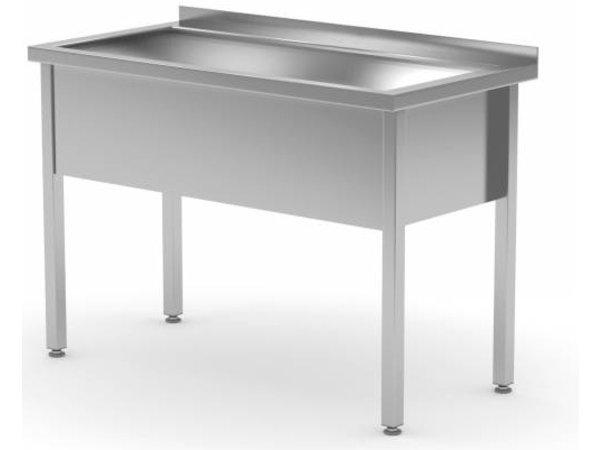 XXLselect Stainless Steel Sink Sink XL + 300 (h) mm + Splash-Rand | 700 (b) x700 (d) mm | CHOICE OF 6 WIDTHS