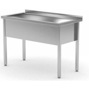 XXLselect Edelstahl-Wannen-XL 300mm (h) + Splash Rand | 700 (b) x600 (d) mm | Auswahl von 6 WIDTHS