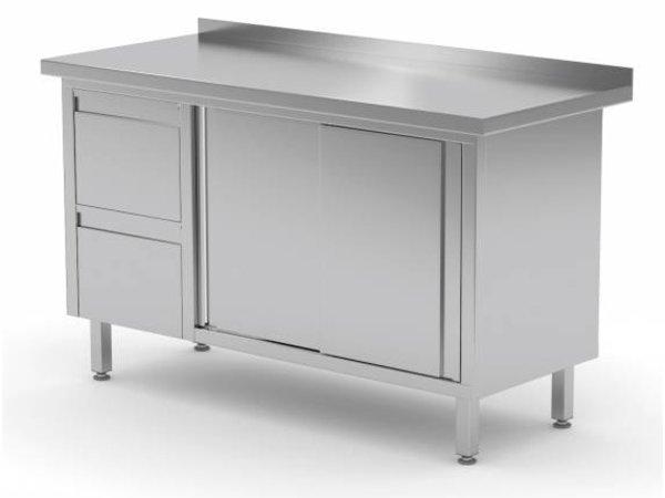 XXLselect Cupboard SS + 2 Drawers (left) + 2 + Mud Sliding Edge | 1200 (b) x600 (d) mm | CHOICE OF 8 WIDTHS