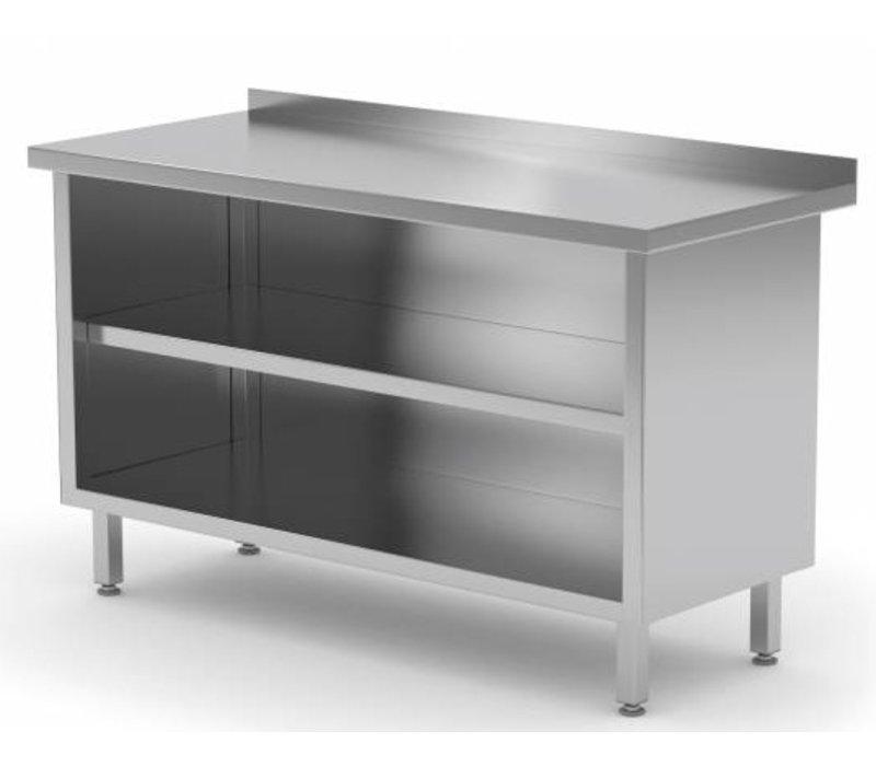 XXLselect Stainless Steel Open Cupboard + s Board   HEAVY DUTY   500 (w) x600 (d) mm CHOICE OF 14 WIDTHS
