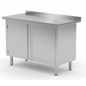 XXLselect Cupboard SS + 2 Swing doors + Splash-Rand   HEAVY DUTY   700 (b) x600 (d) mm   CHOICE OF 8 WIDTHS