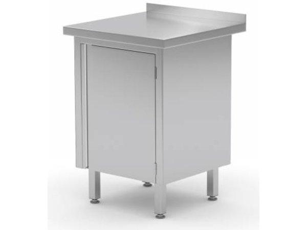 XXLselect Cupboard SS + 1 + Swing door Splash Edge | HEAVY DUTY | 430 (b) x600 (d) mm | CHOICE OF 3 SIZES