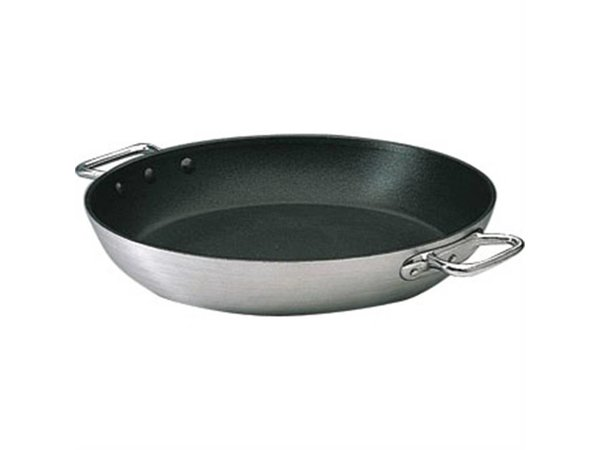 XXLselect Paella pan with 2 handles Heavy Duty Aluminum Nonstick - 36cm diameter - CHOICE OF 2 DIMENSIONS
