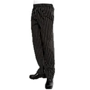 XXLselect Chef Works Easyfit Chefs Trousers - Available in 6 sizes - Unisex - Black / White Stripes - LOTS SOLD!
