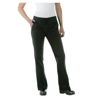XXLselect Chef Works Ladies trousers - Available in 5 sizes - Black