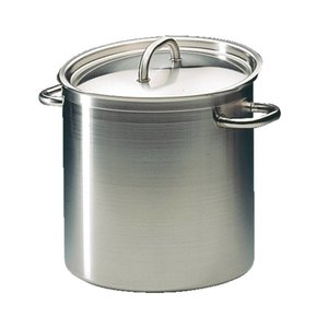 XXLselect Casserole / Stockpot High Excellence Stainless Steel - 10.8 liters - 230mm High - CHOICE OF 5 SIZES