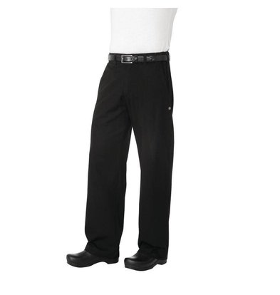 XXLselect Chef Works Chefs pants Black Herringbone - Available in 6 different sizes - Unisex - Black
