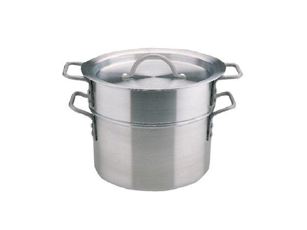 XXLselect Dubbele Kookpan Aluminium - 9 Liter - 27,5cm Ø
