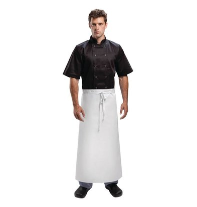 XXLselect Standard Catering Sloof - Lange - 90x90cm - Weiß - Unisex