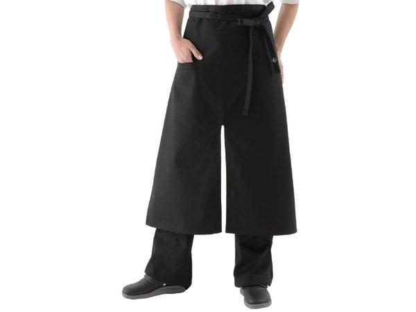 XXLselect Uniform Works bistro apron - Size 75 (L) x 80 (W) cm - Black - Unisex