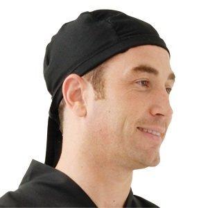 XXLselect Chef Works Hoofddoek - Universele maat - Zwart - Unisex
