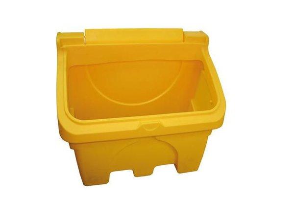 XXLselect Strooizoutbak / Salz-Kasten mit Löffel - 200 Liter - Farbe Gelb