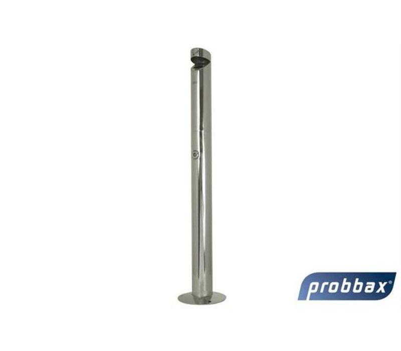 XXLselect Peuk Säule | Edelstahl poliert | 1,1 Liter | Bis zu 330 Kippen | 76x76x (H) 920mm