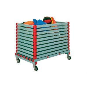 XXLselect Plastic storage Kar on Wheels 2cm Opening - 120x70x (h) 91cm