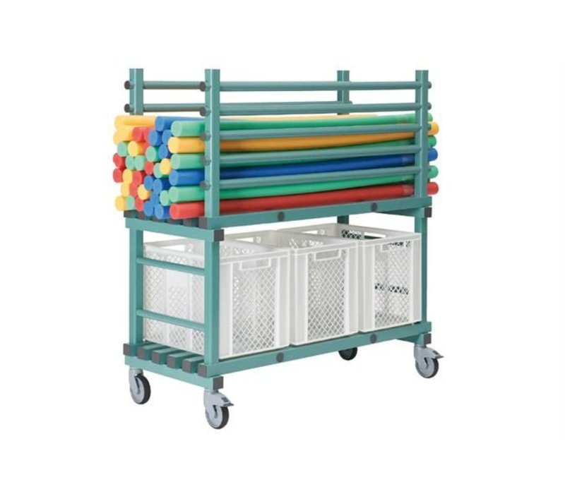 XXLselect Plastic storage Kar On Wheels - Model pool - Camp - 138x60x (h) 145cm