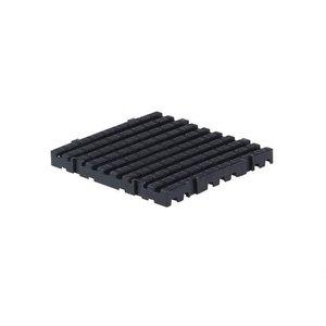 XXLselect Anti-slip Vloertegel Vierkant Hard - 50x50x5cm - Zwart