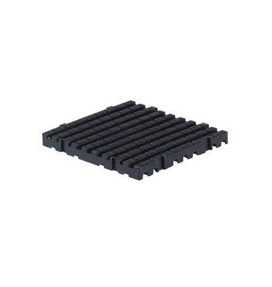 XXLselect Anti-Rutsch-Bodenfliese-Platz Hart - 50x50x5cm - Schwarz