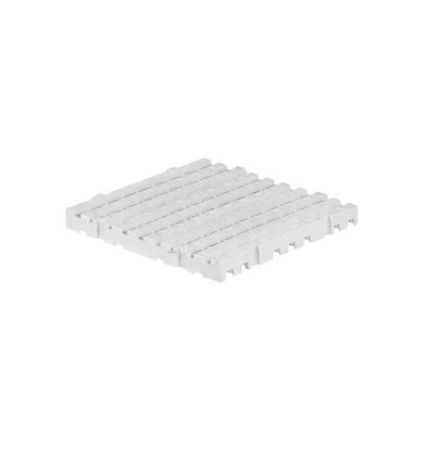 XXLselect Anti-Rutsch-Bodenfliese-Platz Hart - 50x50x5cm - Weiß