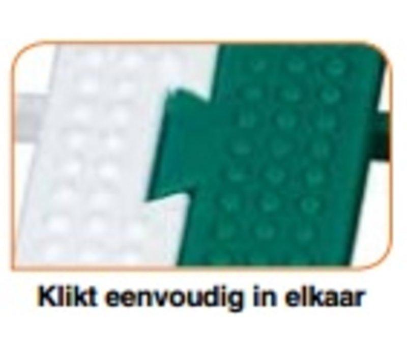 XXLselect Anti-slip Vloertegel Vierkant Hard - 50x50x5cm - Wit