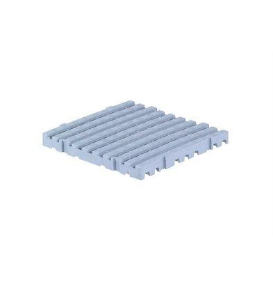 XXLselect Anti-slip Vloertegel Vierkant Hard - 50x50x5cm - Grijs