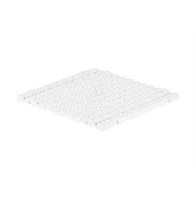 XXLselect Anti-Rutsch-Bodenfliese-Platz Gastro-Plus - 60x60x3cm - Weiß