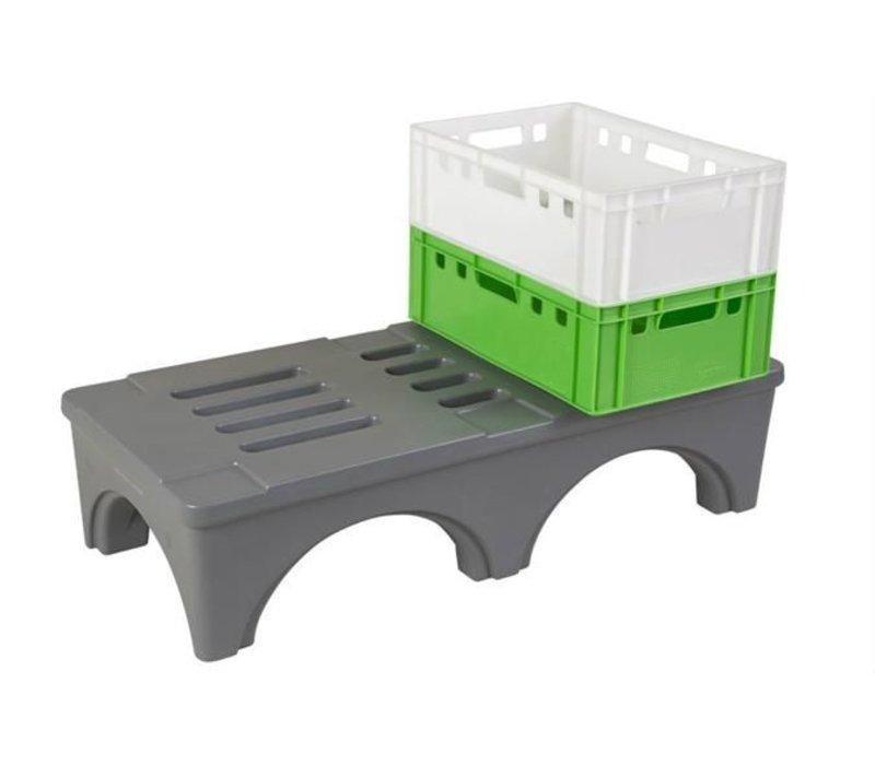 XXLselect Stau Rack / Gestell - 121x56x30cm - Grau